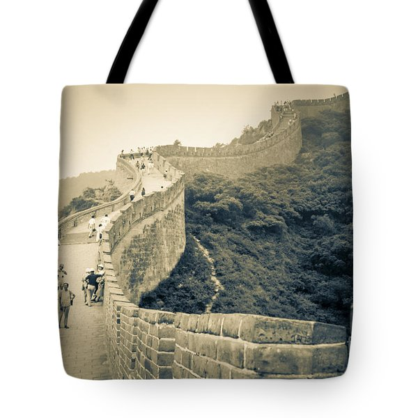 Tote Bag featuring the photograph The Great Wall Of China by Heiko Koehrer-Wagner