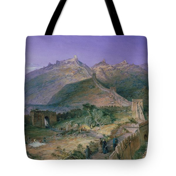 The Great Wall Of China Tote Bag by William Simpson