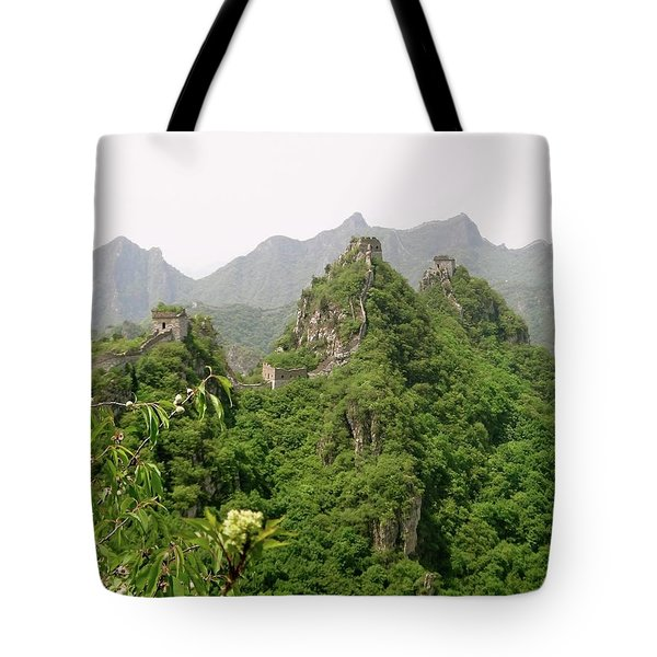 The Great Wall Of China Winding Over Mountains Tote Bag
