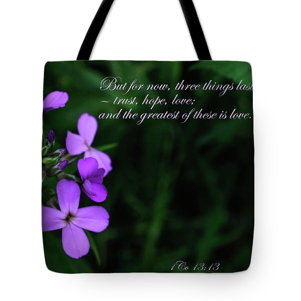 Tote Bag featuring the photograph The Greatest Is Love by Tikvah's Hope