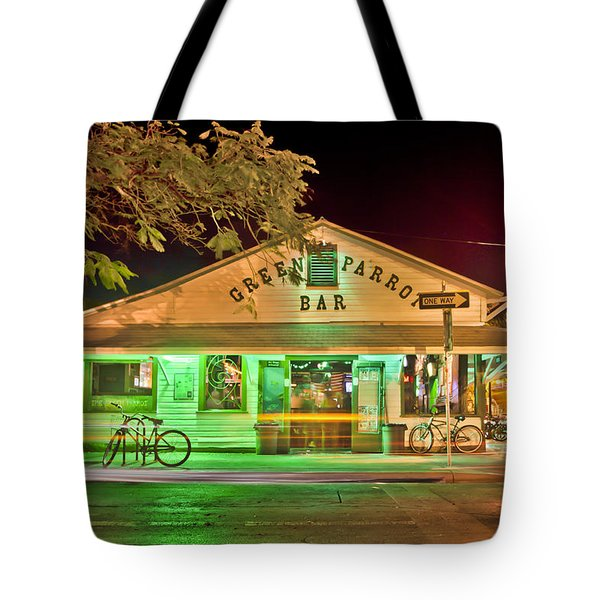 The Greeen Parrot Tote Bag