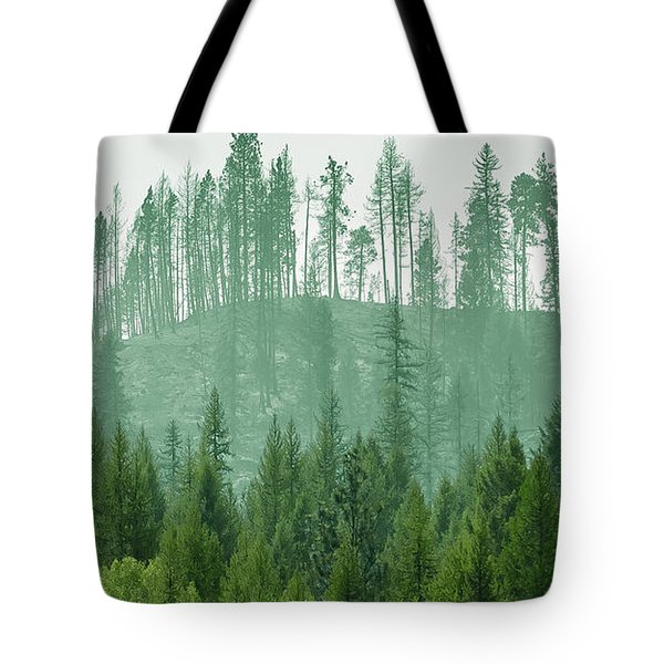 The Green And The Not So Green Tote Bag