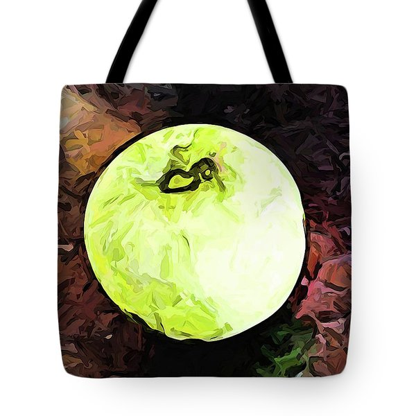 The Green Apple In The Bright Light Tote Bag