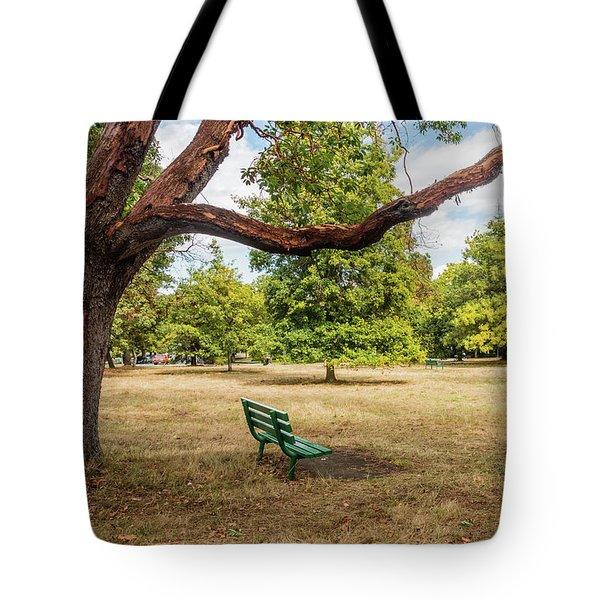 The Green Bench Tote Bag