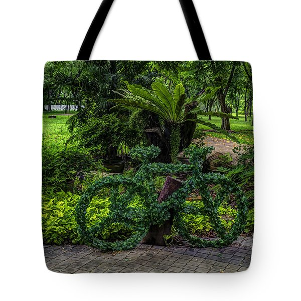 The Green Bicycle Tote Bag