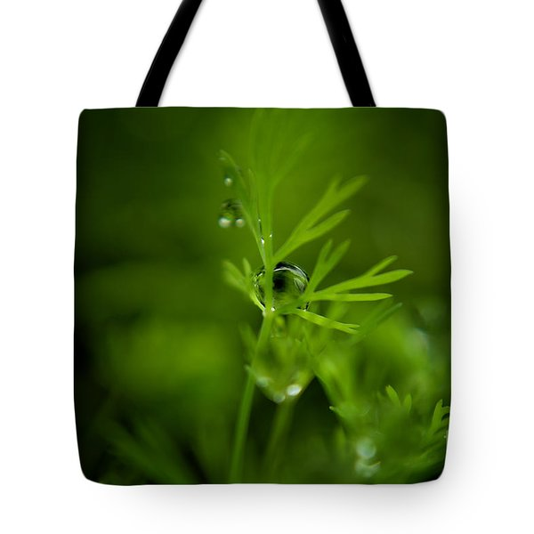 The Green Drop Tote Bag