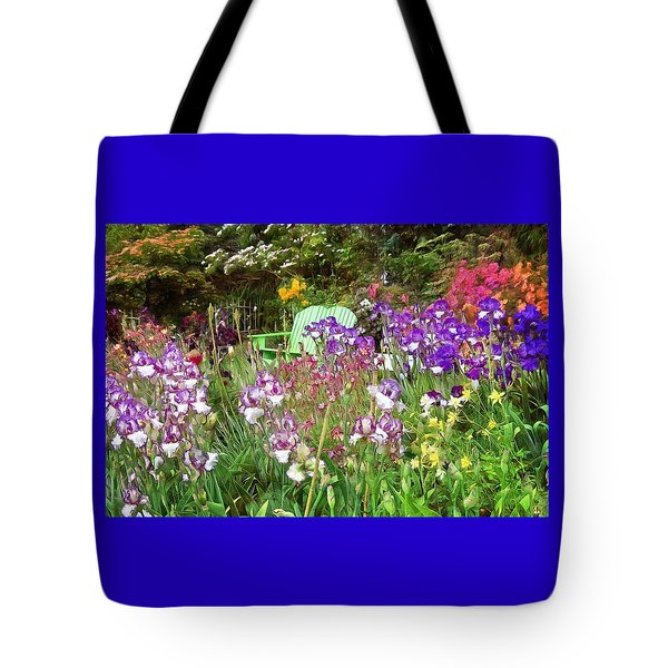 Tote Bag featuring the photograph Hiding In The Garden by Thom Zehrfeld
