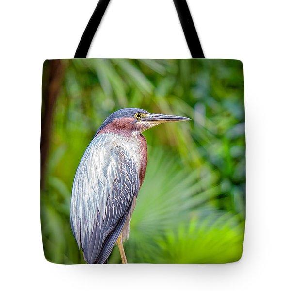 The Green Heron Tote Bag