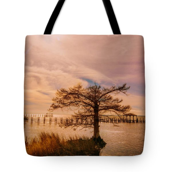 The Green House At Duck  Tote Bag by John Harding