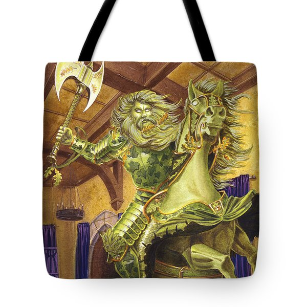 The Green Knight Tote Bag by Melissa A Benson