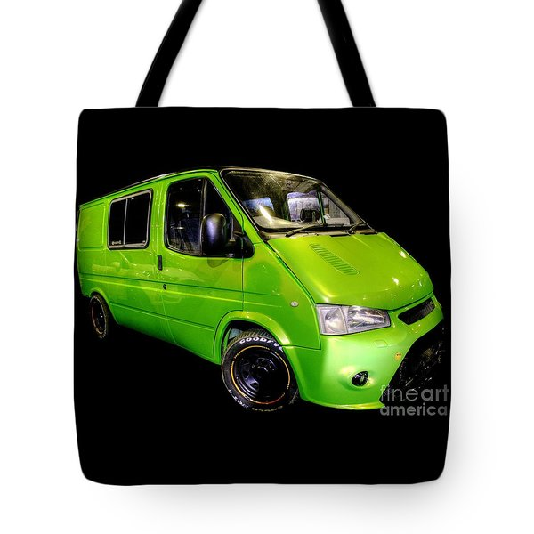 The Green Machine Tote Bag by Vicki Spindler