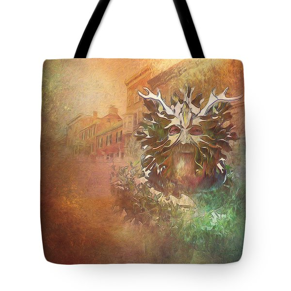 The Green Man Cometh Tote Bag