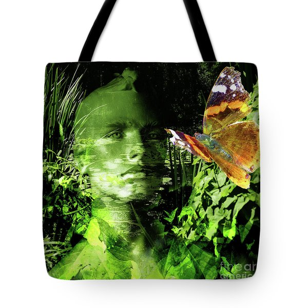 Tote Bag featuring the photograph The Green Man by LemonArt Photography