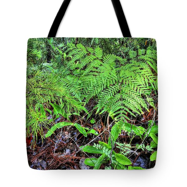 Tote Bag featuring the photograph The Green Of The Forest Floor by JC Findley