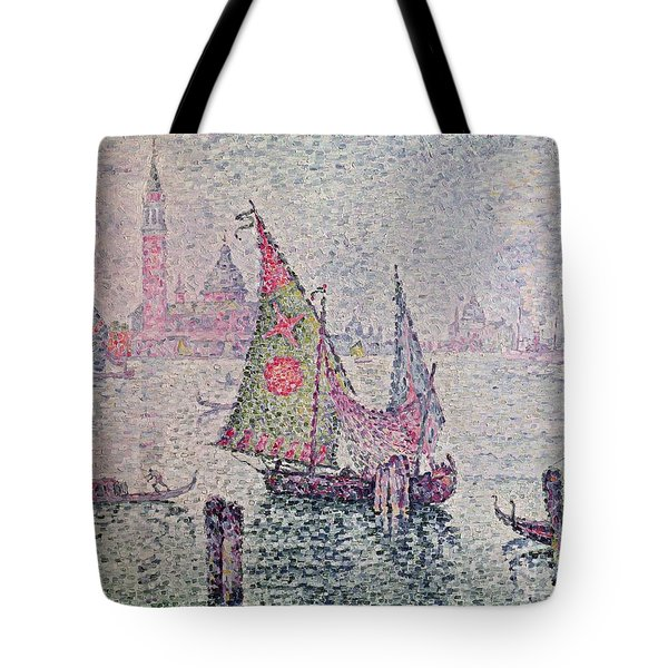 The Green Sail Tote Bag by Paul Signac
