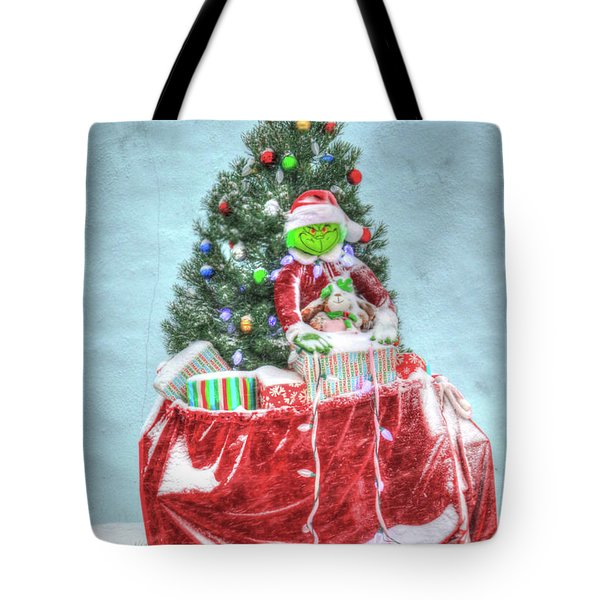 The Grinch Stole Christmas Card Tote Bag