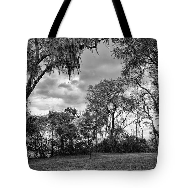 The Grounds Of Fort Caroline National Memorial Tote Bag by John M Bailey