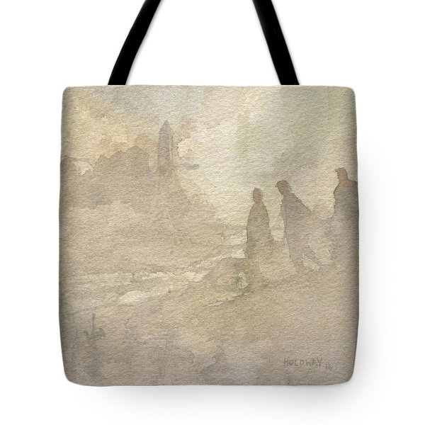 The Group Comes Out Of The Wilderness Tote Bag