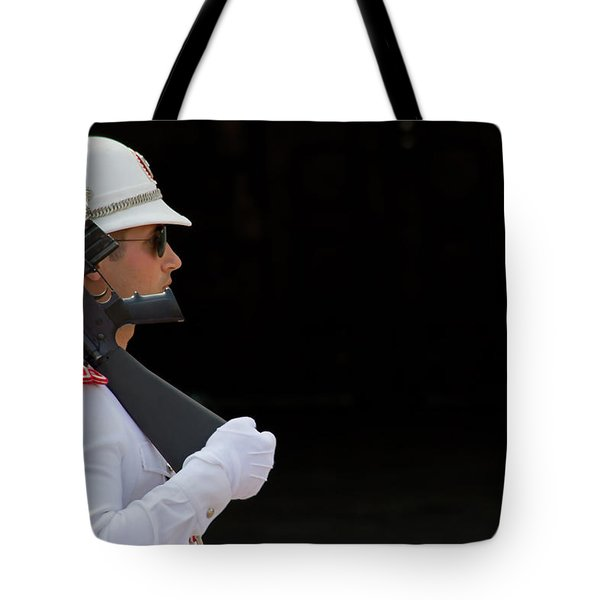 The Guard Tote Bag by Keith Armstrong