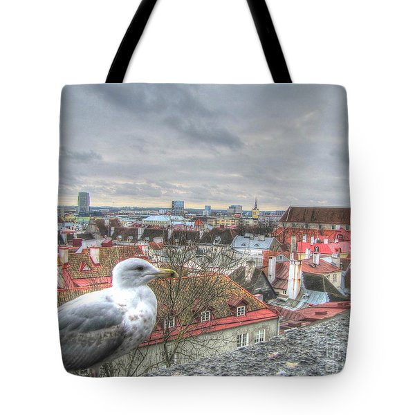 The Guard Of Tallinn Tote Bag by Yury Bashkin