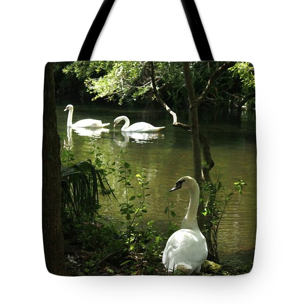 The Guard Swan Tote Bag