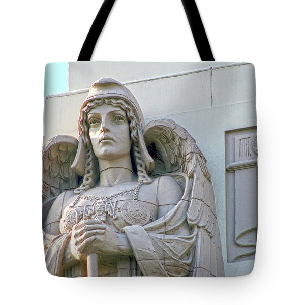 The Guardian Angel On Watch Tote Bag