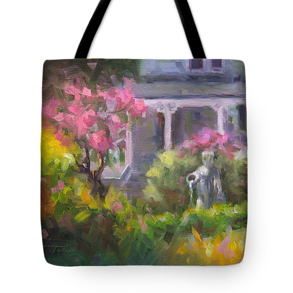 The Guardian - Plein Air Lilac Garden Tote Bag