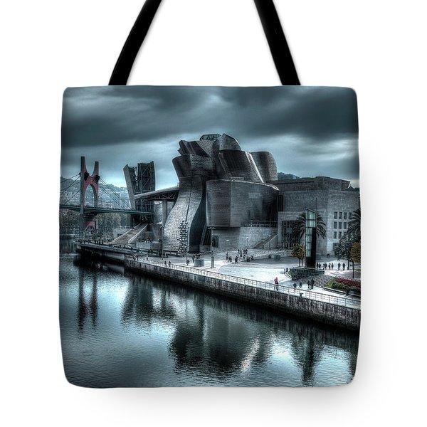 The Guggenheim Museum Bilbao Surreal Tote Bag