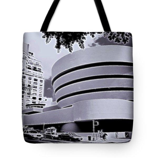 The Guggenheim Black And White Tote Bag