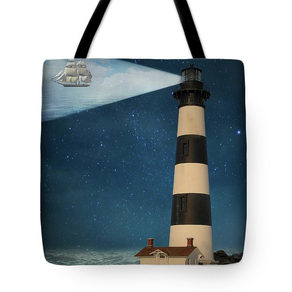 Tote Bag featuring the photograph The Guiding Light by Juli Scalzi