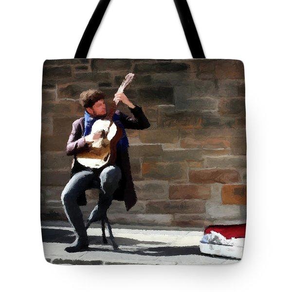 The Guitarist Tote Bag by David Dehner