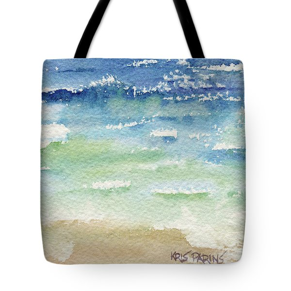 Tote Bag featuring the painting The Gulf by Kris Parins