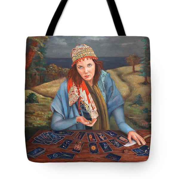 The Gypsy Fortune Teller Tote Bag by Enzie Shahmiri