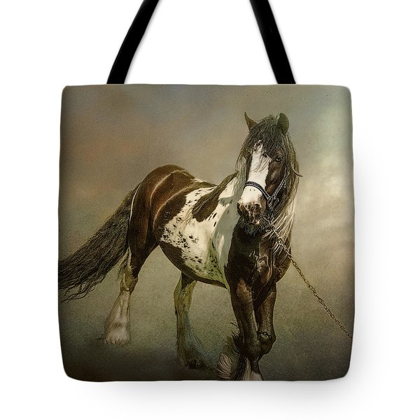 Tote Bag featuring the photograph The Gypsy's Horse by Brian Tarr