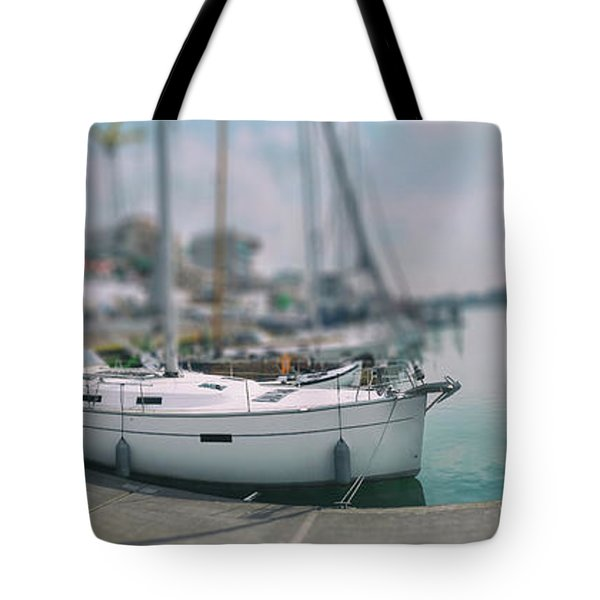 Tote Bag featuring the photograph the Hague local harbor by Ariadna De Raadt