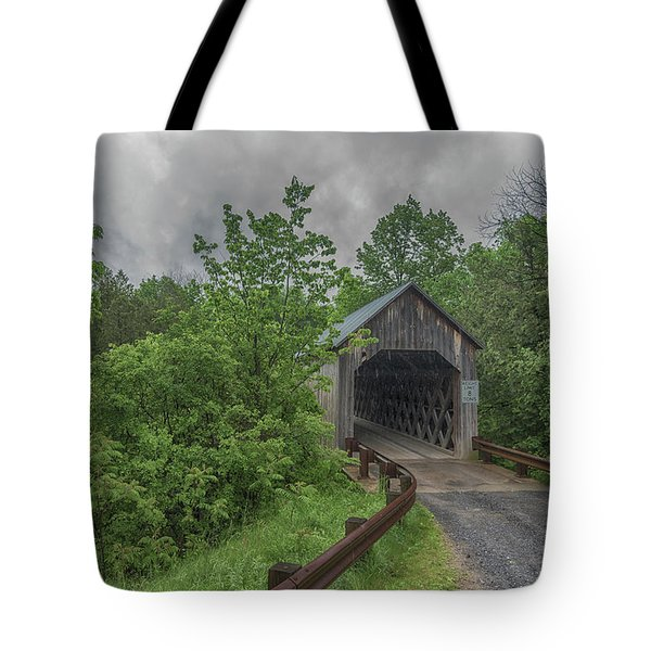 Tote Bag featuring the photograph The Halpin Covered Bridge by Guy Whiteley