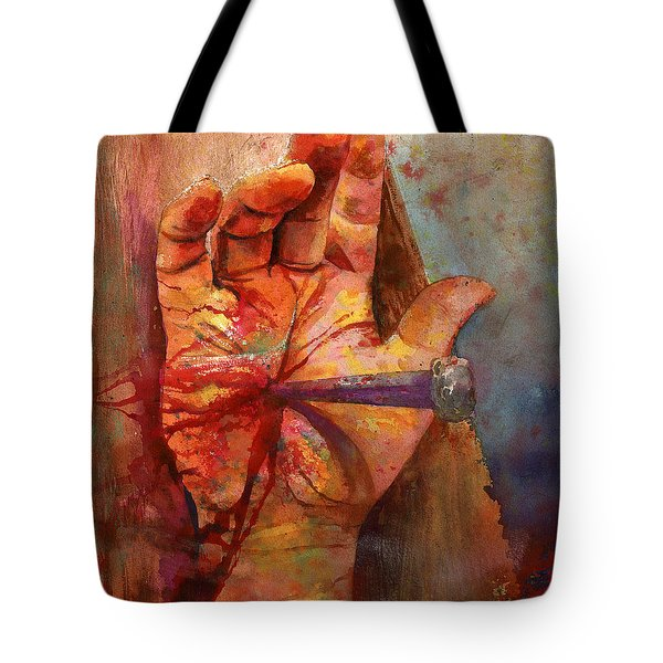 The Hand Of God Tote Bag by Andrew King