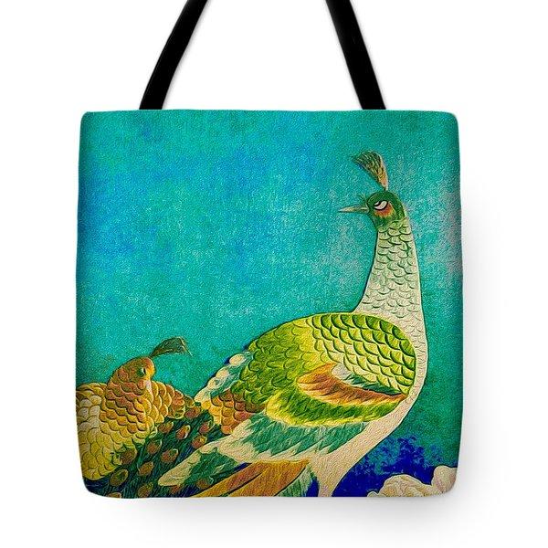 The Handsome Peacock - Kimono Series Tote Bag