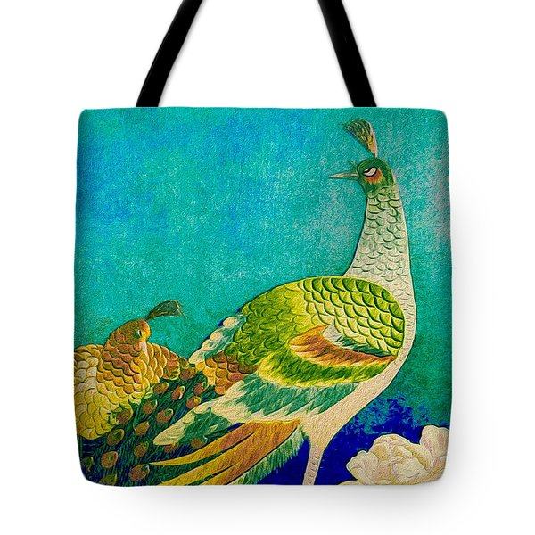 The Handsome Peacock - Kimono Series Tote Bag