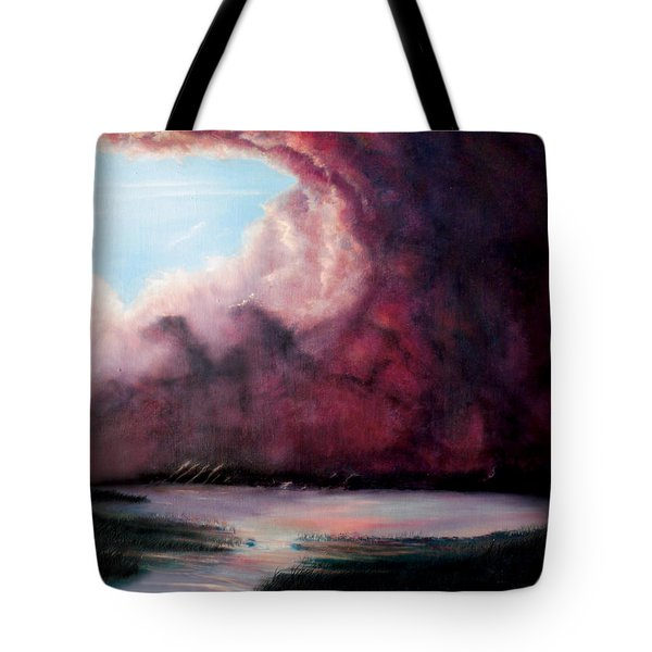 Tote Bag featuring the painting The Hansbach by Albert Puskaric