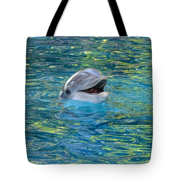 The Happy Dolphin Tote Bag