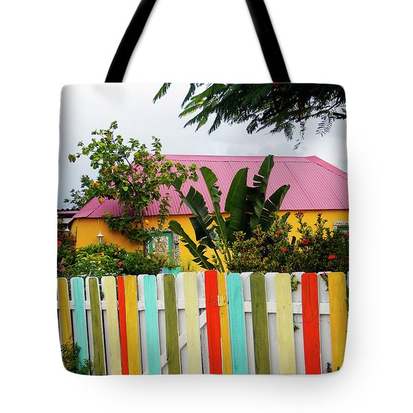 Tote Bag featuring the photograph The Happy House, Island Of Curacao by Kurt Van Wagner