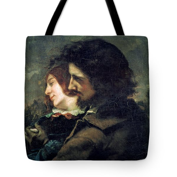 The Happy Lovers Tote Bag by Gustave Courbet