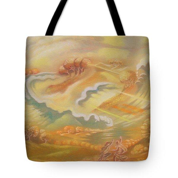 The Happy Tsunami Tote Bag