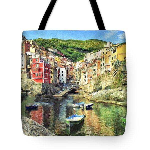 The Harbor At Rio Maggiore Tote Bag