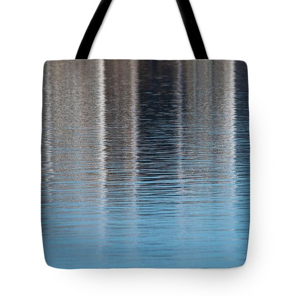 Tote Bag featuring the photograph The Harbor Reflects by Karol Livote