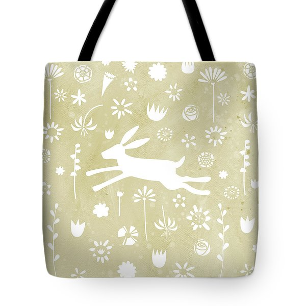 The Hare In The Meadow Tote Bag