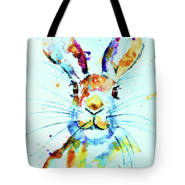 Tote Bag featuring the painting The Hare by Steven Ponsford