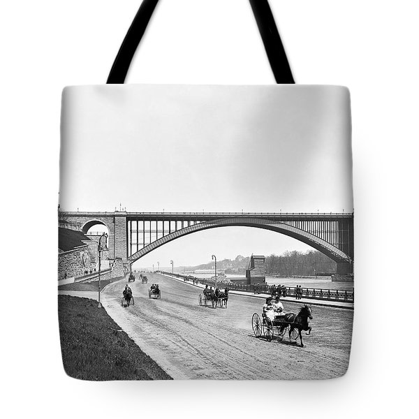 The Harlem River Speedway Tote Bag by William Henry jackson
