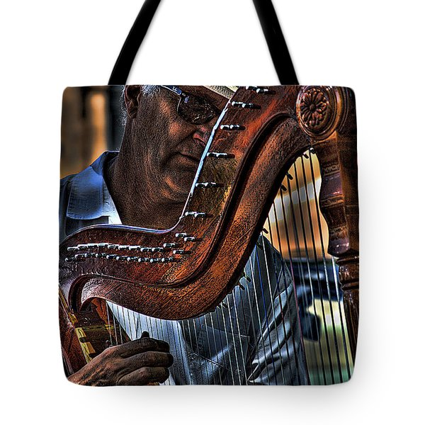 The Harp Player Tote Bag by David Patterson